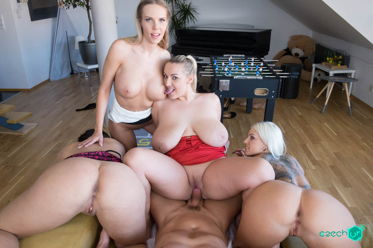 Euro Big Tits Anal Threesome