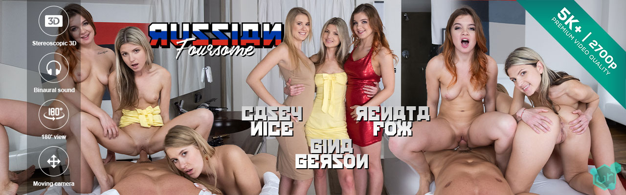 Czech VR porn - Russian Foursome