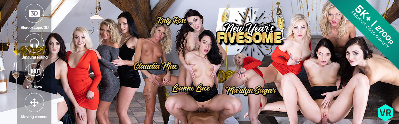 Czech VR porn - New Year's Fivesome